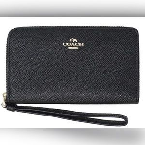 Coach Crossgrain Leather Zip Wallet
